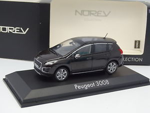 【送料無料】模型車 モデルカー スポーツカー プジョーnorev 143 peugeot 3008 noire