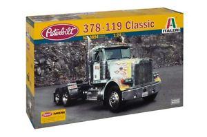 【送料無料】模型車 モデルカー スポーツカー モデルキットクラシックトラックitaleri 3894 model kit 124 peterbilt 378119 classic camion tir