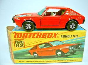 【送料無料】模型車 モデルカー スポーツカー マッチルノーボックスmatchbox sf nr 62c renault 17tl rot in rarer jk bergangsbox