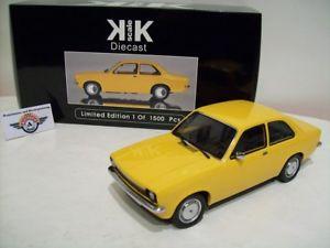 【送料無料】模型車 モデルカー スポーツカー オペルリムジンスケールopel kadett c limousine, 1973, yellow, kkscale 118, ovp