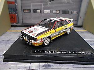 【送料無料】模型車 モデルカー スポーツカー アウディクワトロラリーモンテカルロ#audi quattro rallye monte carlo grb 1984 7 blomqvist umbau hb trofeu 143