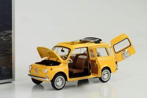 【送料無料】模型車 モデルカー スポーツカー フィアットポジターノイエロー1968 fiat 500 giardiniera kombi positano yellow 118 norev 187724