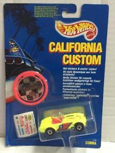 【送料無料】模型車 モデルカー スポーツカー マテルホットホイールカリフォルニアカスタムコブラmattel hot wheels california custom cobra moc, 1990