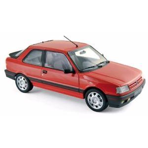 【送料無料】模型車 モデルカー スポーツカー プジョーバレルンガレッドpeugeot 309 gti 1988 vallelunga red 118 184880 norev