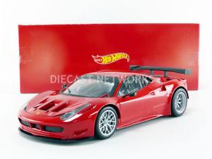 【送料無料】模型車 モデルカー スポーツカー フェラーリイタリアhotwheels mattel 118 ferrari 458 italia gt2 2012 bcj77