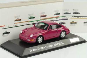 【送料無料】模型車 モデルカー スポーツカー テクノエッセンポルシェカレラporsche 911 964 carrera 1990 techno classica essen 2018 143 spark