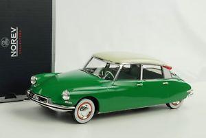 【送料無料】模型車 モデルカー スポーツカー シトロエングリーンベージュダイカストcitroen ds 19 1956 grn beige diecast 118 norev 181480 neu