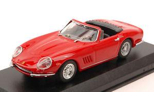 【送料無料】模型車 モデルカー スポーツカー フェラーリクモモデルモデルferrari 275 gtb4 spider 1966 red 143 model best models