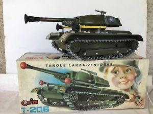 【送料無料】模型車 モデルカー スポーツカー タンクタンクヴェルランザclim t206 tank tanque lanzaventosas tle et plastique annes 1960