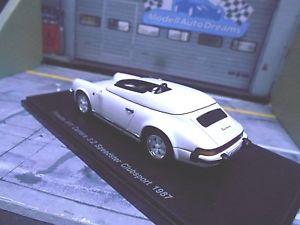 【送料無料】模型車 モデルカー スポーツカー ポルシェカレラブスポーツスパークエンドporsche 911 carrera 32 speedster clubsport 1987 spark resin highenddetail 143