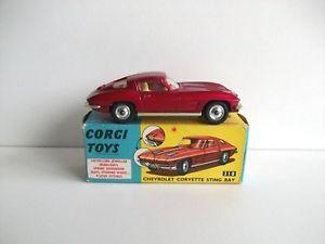 【送料無料】模型車 モデルカー スポーツカー コーギーシボレーコルベットcorgi toys chevrolet corvette rf 310
