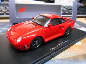 【送料無料】模型車 モデルカー スポーツカー ポルシェクーペコンフォートバージョンスパークporsche 959 4x4 grb coupe rot red komfort version 1983 spark resin 143