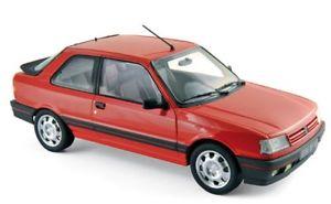 【送料無料】模型車 モデルカー スポーツカー プジョーバレルンガnorev 118 184880 peugeot 309 gti 1987 vallelunga red neu