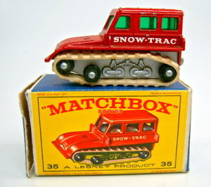 【送料無料】模型車 モデルカー スポーツカー マッチボックスシリーズmatchbox 175 serie 35b snow trac in e1 box
