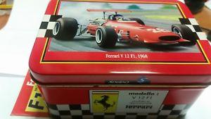【送料無料】模型車 モデルカー スポーツカー フェラーリメタルボックスferrari v12 f1 1968 143 solido metal box