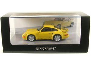 【送料無料】模型車 モデルカー スポーツカー ポルシェターボporsche 911 turbo s 33 964 lightweight yellow 1992