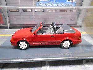 【送料無料】模型車 モデルカー スポーツカー フォードエスコートカブリオレレッドネオford escort xr3 xr3i mk4 cabriolet red rot 1986 1990 neo highenddet resine 143
