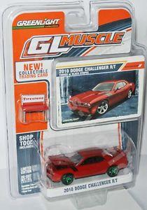 【送料無料】模型車 モデルカー スポーツカー ライトダッジチャレンジャーグリーンマシン#greenlight gl muscle 2010 dodge challenger rt green machine 164 27