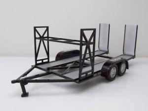 【送料無料】模型車 モデルカー スポーツカー トレーラートレーラーカスタムメタルブラックモデルカー