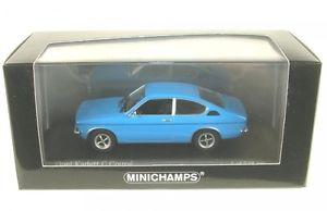 【送料無料】模型車 モデルカー スポーツカー オペルクーペopel kadett c coupe signalblau blue 1973