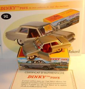 【送料無料】模型車 モデルカー スポーツカー アトラスオペルボックスdinky toys atlas opel rekord 1964 gris metal 143 ref 542 in box