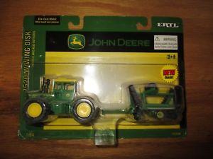 【送料無料】模型車 モデルカー スポーツカー ジョンディアトターウィングディスクjohn deere 7520 tractor and wwing disk 164 ertl 15220n free ship