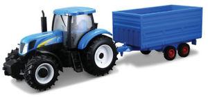 【送料無料】模型車 モデルカー スポーツカー burago bg44060 132 holland tractor and trailer