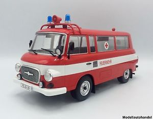 【送料無料】模型車 モデルカー スポーツカー barkas b 1000 feuerwehr ambulance 1965 118 mcg  lt;lt;