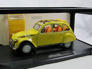 【送料無料】模型車 モデルカー スポーツカー シトロエンクラブミモザイエローnorev 181496 1979 citroen 2cv 6 club mimosa yellow 118