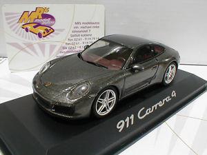【送料無料】模型車 モデルカー スポーツカー モデルポルシェカレーペグレーherpa werbemodell porsche 911 carrera 4 coupe bj 2000 graumetallic 143