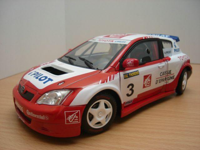 【送料無料】模型車 モデルカー スポーツカー トヨタカローラアランプロストcret toyota corolla trophee andros 2006 118 alain prost