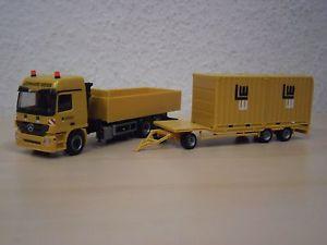 【送料無料】模型車 モデルカー スポーツカー herpa mb actros tu3 2x 10ft container leonhard weiss nr 926065 187