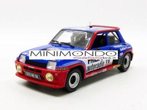 【送料無料】模型車 モデルカー スポーツカー ルノーターボツールドコルスラリーサビーrenault 5 turbo grb rally tour de corse 1984 saby 118 solido 1801301