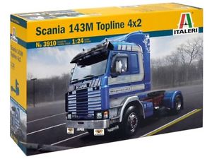 【送料無料】模型車 モデルカー スポーツカー モデルキットスカニアトップライン×トラックitaleri 3910 model kit 124 scania 143m topline 4x2 camion tir