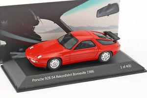 【送料無料】模型車 モデルカー スポーツカー ポルシェレコードドライブporsche 928 s4 rekordfahrt 275 kmh bonneville 1986 holbert rot 143 spark