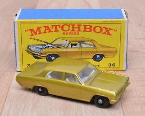 【送料無料】模型車 モデルカー スポーツカー マッチオペルディプロマットトップmatchbox 36 opeldiplomat modell aus metall top zustand ovp 164
