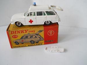 【送料無料】模型車 モデルカー スポーツカー ボクearly dinky vauxhall ambulance 278 boxed