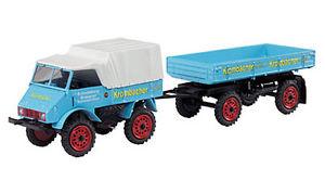 【送料無料】模型車 モデルカー スポーツカー トレーラモデルunimog 401 trailer 143 model schuco
