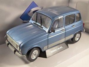 【送料無料】模型車 モデルカー スポーツカー スケールモデルルノー1986 renault 4 gtl clan in blue 118 scale model by solido