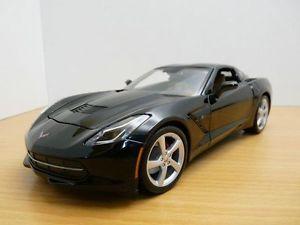 【送料無料】模型車 モデルカー スポーツカー シボレーコルベットクーペノワールchevrolet corvette c7 coup noir 118