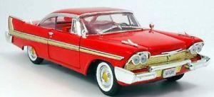 【送料無料】模型車 モデルカー スポーツカー クリスティンプリマスフューリースケールchristine lookalike, plymouth fury 1958 118 scale