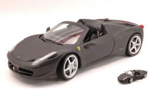 【送料無料】模型車 モデルカー スポーツカー フェラーリイタリアスパイダーマットブラックモデル