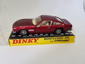【送料無料】模型車 モデルカー スポーツカー ビンテージレッドモンテベルディvintage dinky red monteverdi 375l 190 boxed