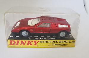 【送料無料】模型車 モデルカー スポーツカー ビンテージメルセデスベンツvintage dinky red mercedesbenz 224 boxed