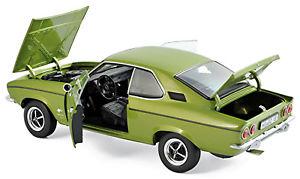 【送料無料】模型車 モデルカー スポーツカー オペルマンタクーペレモングリーンメタリックopel manta a coupe 197075 lemon green metallic 118 norev
