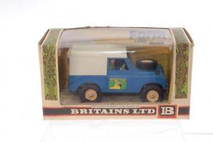 【送料無料】模型車 モデルカー スポーツカー #ランドローバーファームbritains 9571 land rover britains farm blue cb