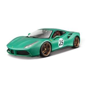【送料無料】模型車 モデルカー スポーツカー フェラーリモデルカーbburago 118 ferrari 488 gtb 70th anniversary the green jewel die cast model car