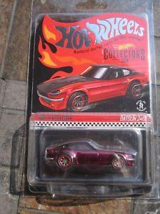 【送料無料】模型車 モデルカー スポーツカー ダットサンレッドホットホイールコレクタリアルタイムライダーdatsun 240z red hot wheels rlc collectors hwc exclusive real riders