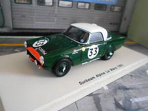【送料無料】模型車 モデルカー スポーツカー サンビームアルパインレーシングルマン#スパークsunbeam alpine racing le mans 1963 33 harper procter spark resin 143