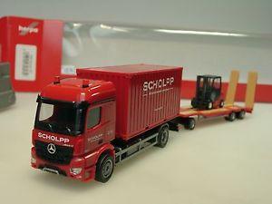 【送料無料】模型車 モデルカー スポーツカー herpa mercedes arocs scholpp containerlkw, tu3 u gabelstapler 306232 187